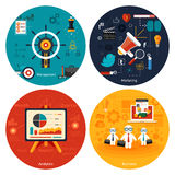 Icons for marketing, management, analytics. Stock Images