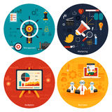 Icons for marketing, management, analytics. Royalty Free Stock Photo