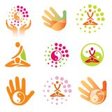 Icons massage health. Royalty Free Stock Photography
