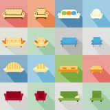 Icons of matching sofa and chair Royalty Free Stock Photography