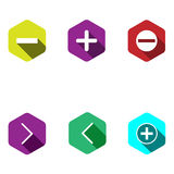 Icons with mathematical signs Stock Photo