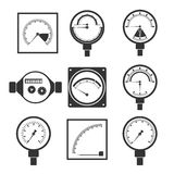 Icons of measuring instruments Stock Photography