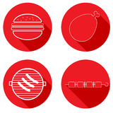 Icons meat products. Royalty Free Stock Photos