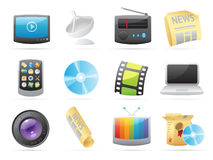 Icons for media Royalty Free Stock Photography