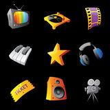 Icons for media Royalty Free Stock Photo