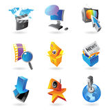 Icons for media. Information and entertainment.  Vector illustration Royalty Free Stock Images