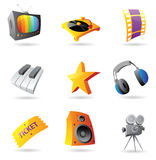 Icons for media Stock Photos