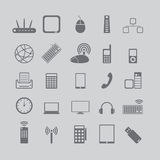 Icons for media and cell phones Stock Images