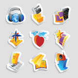 Icons for media Royalty Free Stock Image
