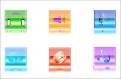 Icons media Stock Images