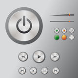 Icons mediacentre Stock Photo