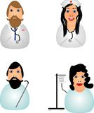 Icons of medical field Stock Photography