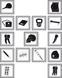 Icons with medical goods Royalty Free Stock Photos