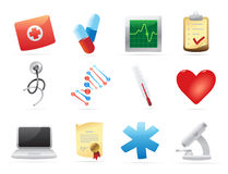 Icons for medicine Royalty Free Stock Photo
