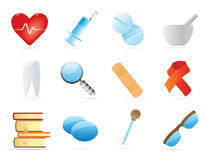 Icons for medicine Stock Images