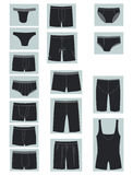 Icons of mens underwear Royalty Free Stock Photos