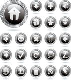 Icons metal black Royalty Free Stock Image
