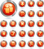 Icons metal red Stock Image