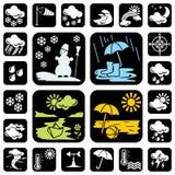 Icons_meteo Stock Image