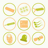 Icons methods of contraception Stock Image