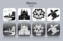 Icons of Mexico Royalty Free Stock Photo