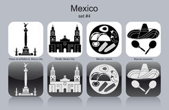 Icons of Mexico Stock Image