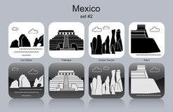 Icons of Mexico Royalty Free Stock Images