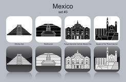 Icons of Mexico Royalty Free Stock Photography