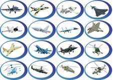 Icons from the military aviation Royalty Free Stock Photography