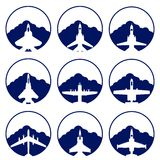 The icons of military aviation Stock Images