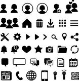 40 icons for mobile applications stock image