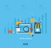 Icons for mobile marketing, online shopping Royalty Free Stock Photography