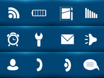 Icons. For the mobile phone Stock Images