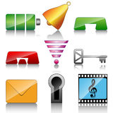 Icons for mobile phone Stock Images