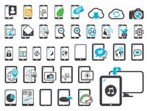 Icons of modern gadgets Royalty Free Stock Photos
