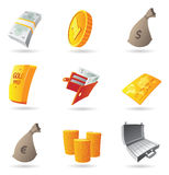 Icons for money. And finance. Vector illustration Stock Images