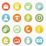Icons money Royalty Free Stock Photography