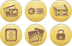 Icons money in vector. A set of Finance, Money, and Website Navigation icons for internet business and communications Royalty Free Stock Images