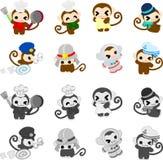 Icons of monkeys Royalty Free Stock Photo