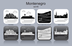 Icons of Montenegro Stock Images