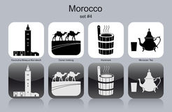 Icons of Morocco Stock Photography