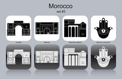 Icons of Morocco Royalty Free Stock Photography