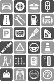 Icons of motor vehicles, traffic & mechanical. Some icons related with motor vehicles, automobile, traffic, mechanical and safety Royalty Free Stock Photo