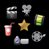 Icons for movies Royalty Free Stock Photos