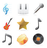 Icons for music Royalty Free Stock Photography