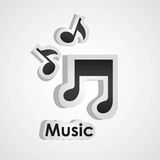 Icons of music Stock Image
