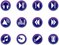 Icons - music series 1. A set of musical themed icons stock illustration
