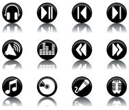 Icons - music set 2. A set of musical themed icons Stock Image