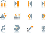Icons - music set 3. A set of musical themed icons Royalty Free Stock Photos