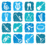 Icons of musical instruments Royalty Free Stock Photography